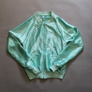 NWT American Apparel Mint Green Satin Jacket